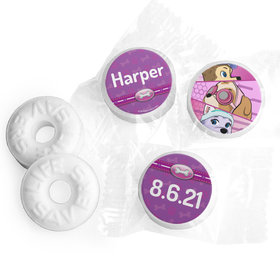 Personalized Birthday Paw Command Pink Life Savers Mints