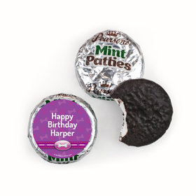 Personalized Birthday Paw Command Pink Pearson's Mint Patties