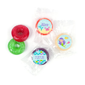 Personalized Birthday Mermaid Friends LifeSavers 5 Flavor Hard Candy