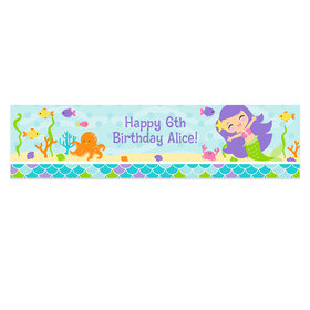 Personalized Birthday Mermaid Friends Banner