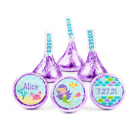 Personalized Birthday Mermaid Friends Hershey's Kisses (50 pack)