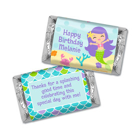 Personalized Mermaid Friends Birthday Hershey's Miniatures Wrappers