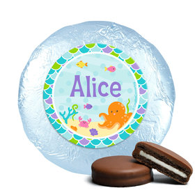 Personalized Birthday Mermaid Friends Milk Chocolate Covered Foil Oreos