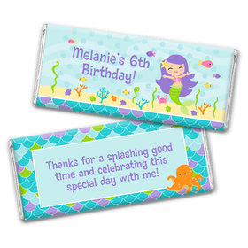 Personalized Birthday Mermaid Friends Chocolate Bar Wrappers Only