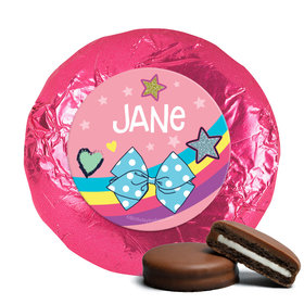 Personalized Birthday Party Bows Milk Chocolate Covered Foil Oreos