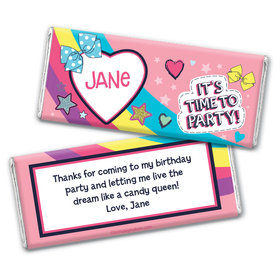 Personalized Birthday Party Bows Chocolate Bars