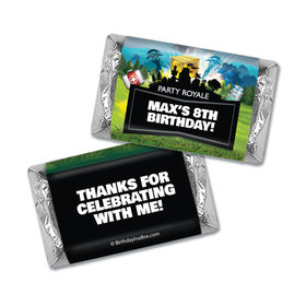 Personalized Kids Birthday Battle Games Hershey's Miniatures Wrappers