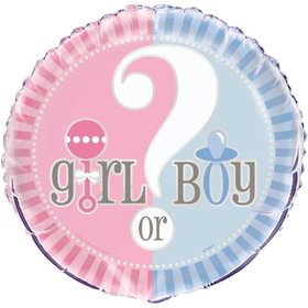 "Gender Reveal 18"" Foil Balloon (Each)"