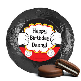 Personalized Birthday Mickey Party Milk Chocolate Covered Foil Oreos