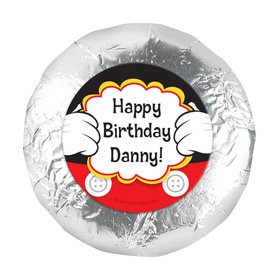 "Personalized Birthday Mickey Party 1.25"" Stickers (48 Stickers)"