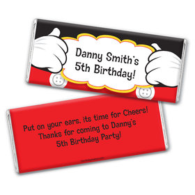 Personalized Birthday Mickey Party Chocolate Bars