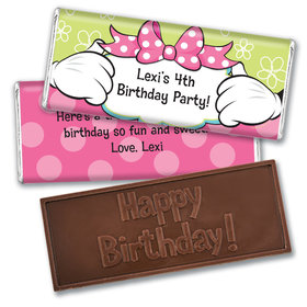 Personalized Birthday Miss Mouse Embossed Chocolate Bars