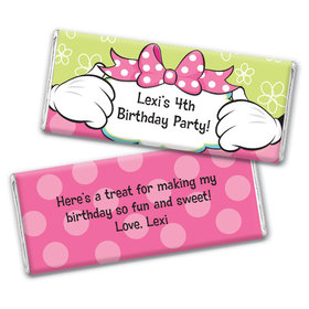 Personalized Birthday Miss Mouse Chocolate Bars