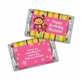 Birthday Girl Monkey Personalized Hershey's Miniatures