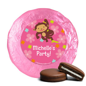 Birthday Girl Monkey Personalized Milk Chocolate Covered Oreos
