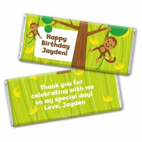 Birthday Monkey & Bananas Personalized Hershey's Chocolate Bar Wrapper