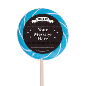 "Vintage Dude Milestone Personalized 3"" Lollipops (12 Pack)"