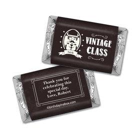 Vintage Birthday Personalized Hershey's Miniatures Wrappers