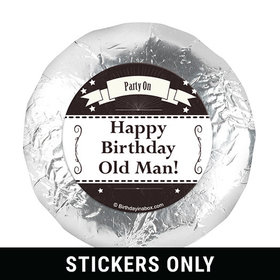 "Vintage Birthday Personalized 1.25"" Stickers (48 Stickers)"
