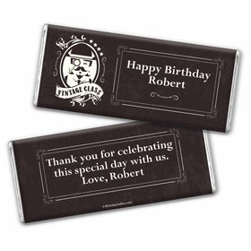 Vintage Birthday Personalized Hershey's Chocolate Bar Wrapper