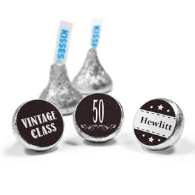 Vintage Elite Birthday Personalized Hershey's Kisses Candy (50 Pack)