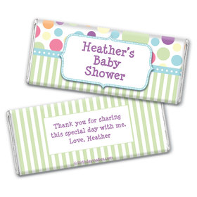 Baby Shower Blue Stripe Personalized Hershey's Chocolate Bar Wrapper
