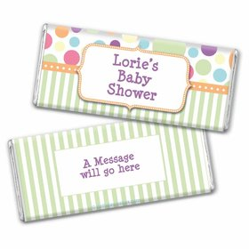 Baby Shower Colorful Dots Personalized Chocolate Bar