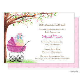 Bonnie Marcus Collection Personalized Beautiful Bassinet Girl Invitation