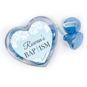 Baptism Assembled Acrylic Heart Container with Hershey's Kisses