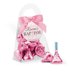 Personalized Baptism Favor Assembled Purse Filled with Hershey's Kisses