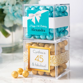 Personalized Birthday JUST CANDY® favor cube with Sixlets Chocolate