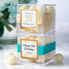 Personalized Birthday JUST CANDY® favor cube with Premium Sugar Cookie Bites