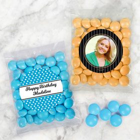 Personalized Birthday Candy Bags with Just Candy Milk Chocolate Minis