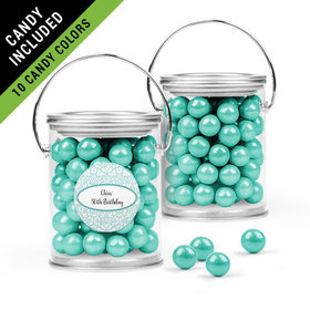 Personalized Birthday Favor Assembled Paint Can Filled with Sixlets