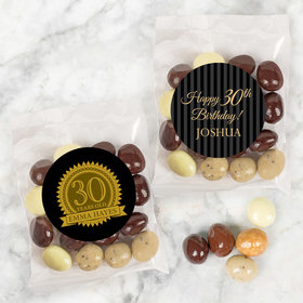 Personalized Milestone 30th Birthday Candy Bags with Premium Gourmet New York Espresso Beans