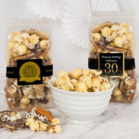 Personalized Milestone 30th Birthday Trendy Trash Popcorn 8 oz Bags