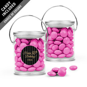 Personalized Milestones Birthday Favor Assembled Paint Can Filled with Just Candy Milk Chocolate Minis