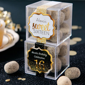 Personalized Sweet 16 Birthday JUST CANDY® favor cube with Premium Marshmallow S'mores - Milk Chocolate