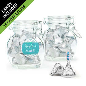 Personalized Sweet 16 Birthday Favor Assembled Swing Top Jar Filled with Hershey's Kisses
