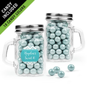 Personalized Sweet 16 Birthday Favor Assembled Mini Mason Mug Filled with Sixlets