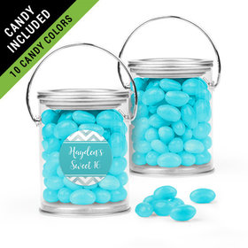 Personalized Sweet 16 Birthday Favor Assembled Paint Can Filled with Just Candy Jelly Beans