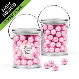 Personalized Sweet 16 Birthday Favor Assembled Paint Can Filled with Sixlets