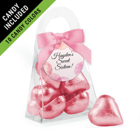 Personalized Sweet 16 Birthday Favor Assembled Purse Filled with Milk Chocolate Hearts