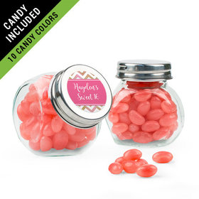 Personalized Sweet 16 Birthday Favor Assembled Mini Side Jar Filled with Just Candy Jelly Beans
