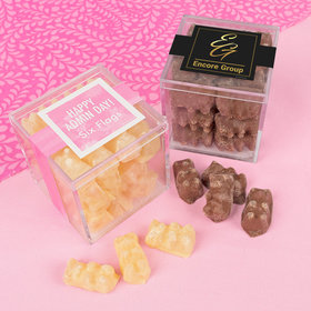 Personalized Administrative Professionals Day JUST CANDY® favor cube with Premium Chocolate Covered Gummy Bears