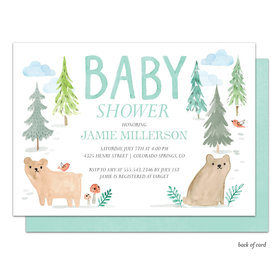 Bonnie Marcus Collection Personalized Baby Bear Invitation