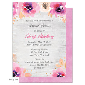 Bonnie Marcus Collection Personalized Bridal Shower Blushing Floral Invitation
