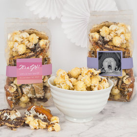 Personalized Baby Girl Birth Announcement Trendy Trash Popcorn 8 oz Bags