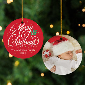 Personalized 'Merry Christmas' Family Photo