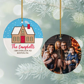 Personalized Family Home Christmas Photo